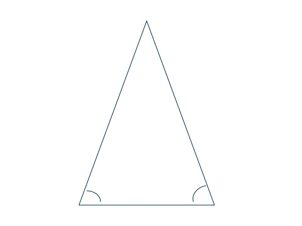 Isosceles acute triangle with base ac and vertex angle bVertex Of An Angle In Nature